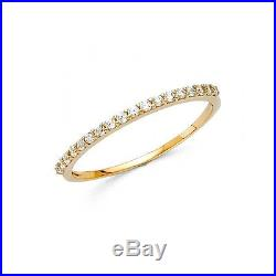 0.65 Ct Round Cut Real 14k Yellow Gold Engagement Wedding Anniversary Band Ring