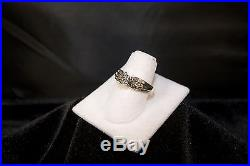 10K Yellow Gold Diamond Cluster Cocktail/Engagement Ring, 0.85 TCW (AO5)