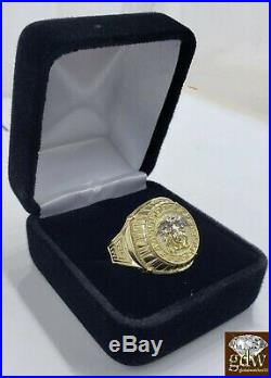 10k Gold Ring Medusa Head Size 11, Real Solid 10k Yellow Gold Men's Ring, Band