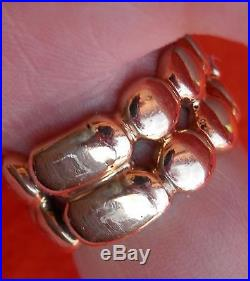 14K Solid Yellow Gold. 20 CT Diamond Band Ring Size 8 FANCY OOAK