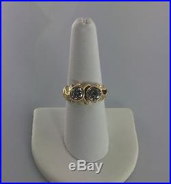 14K Solid Yellow Gold Diamond Ring 1.7 TCW Size 7.5