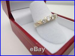 14K Yellow Gold Round Diamond Wedding Band Ring 1CT Bright Color 7 1/4