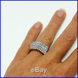 2 Ct Diamond Pyramid Cocktail Cluster Woman/'s Ring 14K White Gold Over