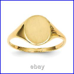 14k Yellow Gold Signet Ring RS112 Size 5.5