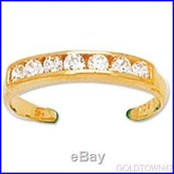 14k Yellow Gold Solid 2 MM Toe Ring