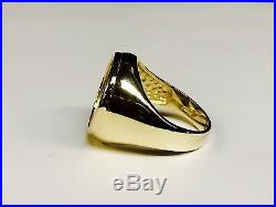 14k gold Ring 20 MM for 1/10 OZ US LIBERTY COIN (mounting only)