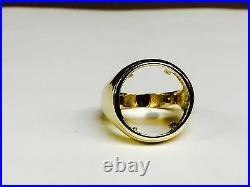 14k gold Ring 25 MM for 1/4 OZ US LIBERTY COIN (mounting only)