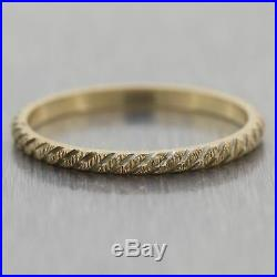 1880's Antique Victorian 14k Yellow Gold Wedding Band Ring