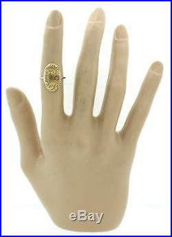 1880s Antique Victorian Estate 10k Yellow Gold Pink Coral Star Cocktail Ring