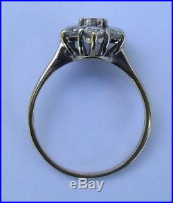 18ct Yellow & White Gold 1 Carat Diamond Daisy Cluster Engagement Ring Size R