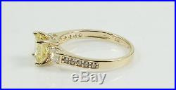 1.80 Tcw Fancy Yellow Princess Cut Engagement Wedding Ring Solid 14k Yellow Gold