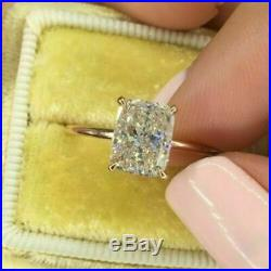 2.00 ct Cushion Diamond Solitaire Engagement Wedding Ring 14k Yellow Gold Over