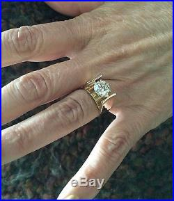 2.25 Ct Round Diamond Solitaire Engagement Wedding Ring 14k Yellow Gold Size 7