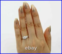 2.50 Ct 14K Yellow Gold Finish Round Engagement Wedding Propose Promise Her Ring
