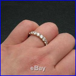 3.00ct Brilliant Created Diamond Eternity Ring Solid 14k Yellow Gold Band Size 6
