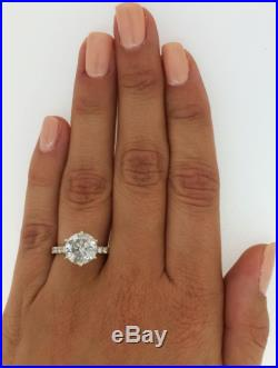 4.25 Ct Round Cut F/si Diamond Solitaire Engagement Ring 14k Yellow Gold