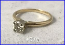 51ct GIA Certified Natural Diamond Solitaire 14K Yellow Gold Ring Size 6.5