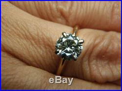 75 ct tw Charles Colvard 6mm Moissanite 14k Yellow Gold Solitaire Ring Size 6