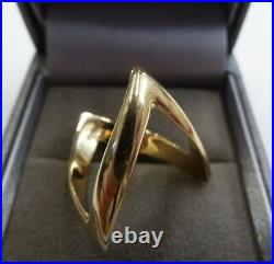 9ct Gold Wishbone Ring Size N, O, P, Q Solid Gold Double Wishbone