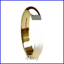 9ct Yellow Gold Wedding Rings D Shaped 2mm 3mm 4mm 5mm 6mm Extra Heavy UK HM