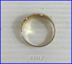 Antique 18ct Yellow Gold Diamond Gypsy Ring 9ct Replacement Shank Size L