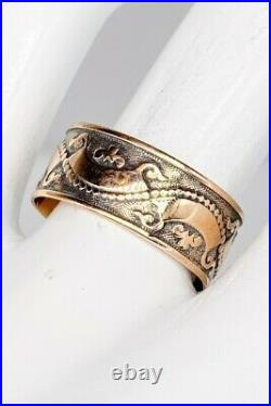 Antique Victorian 1870s 8mm 14k Yellow Gold Eternity Band Ring SZ 8.25 RARE