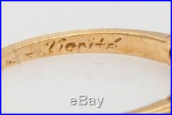 Antique Victorian VERITE SIGNED 1880s 1ct Natural Opal 14k Yellow Gold Band Ring