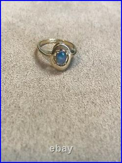 Beautiful Vintage Antique 10K Yellow Gold Opal Ring Sz 7