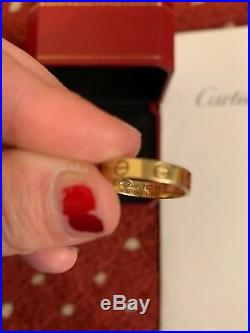 CARTIER LOVE Ring 18k yelow GOLD -US Size 5.5/Box GREAT PRICE L@@k! 15.92mm