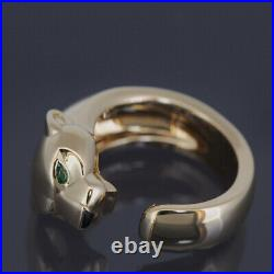 Cartier 18k Yellow Gold Panther Massai Ring 50 With Certificate And Box