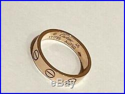 Cartier Love Ring 18K Yellow Gold