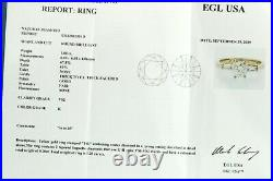 EGL USA 14K gold 1.20CTW VS diamond wedding/engagement ring with 1.0CT ctr. Size 6