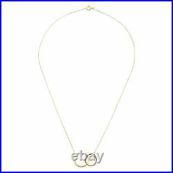 Eternity Gold Interlocking Rings Necklace in 10K Gold