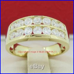 Genuine Solid 9ct Yellow Gold Engagement Wedding Bands Rings Simulated Diamonds