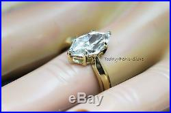 Ladies engagement real solid 14kt yellow gold Marquise cut 2 carat ring
