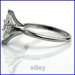 Marquise Diamond Engagement 1 Carat GSI1 14k White Gold Solitaire Wedding Ring