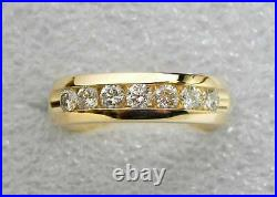 Men's 2.40 Ct Round Cut Diamond Engagement Band Pinky Ring 14K Yellow Gold Over