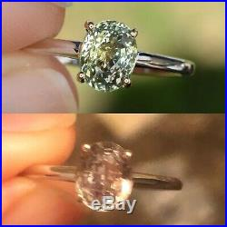 Natural Alexandrite Ring Certified Oval Cut Green 14k White Yellow Gold NEW Sz 7