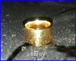 New This Year USA 24k Solid Gold Bullion 2 Oz Ring Joey Nicks Anarchy Jewelry #1