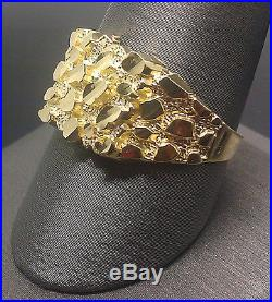 Newly Arrived 10k Yellow Gold Nugget Style Pinky Casual Ring Band