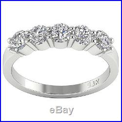 Real Diamond Five Stone Engagement Ring SI1 G 1.50Ct Appraisal 14KT Yellow Gold