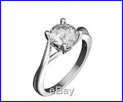 Round Cut 14k Gold Yellow Engagement Twisted Shank Ring Solid 1.0CT Solitaire