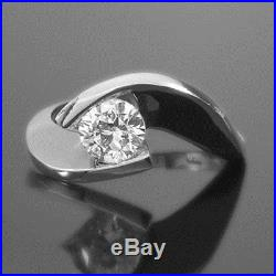 Solitaire Twisted Diamond Ring 14k Yellow Gold Estate Women Wedding Size 5 6 7 8