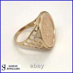 SOVEREIGN RING 375 9ct 9K YELLOW GOLD CLASSIC St George Dragon Slayer ALL Sizes