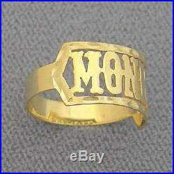 Solid 10k Gold Name Ring Personalized Jewelry Custom Handmade Fine Jewelry NR04