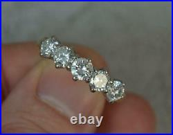 Stunning 1.37ct Diamond 18ct Gold Five Stone Stack Ring d0307