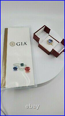 The Sky of Ceylon RARE 14ct. UNHEATED Ceylon Sapphire Ring -With GIA Papers