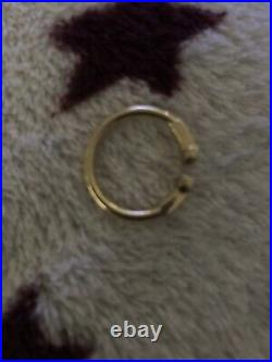 Tiffany & Co 18ct Yellow Gold T Ring Size J
