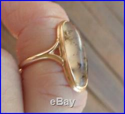 Victorian Dendritic Agate Ring in 10k Gold