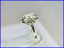 Vintage 14k Yellow Gold Natural Oval Shape Diamond Solitaire Engagement Ring